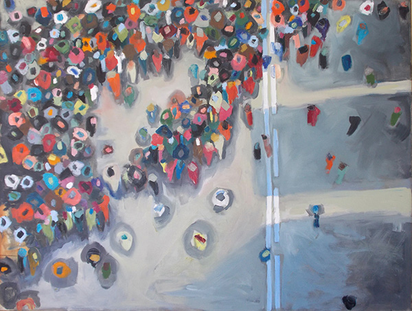 Gathering Crowd V by Miranda Updike